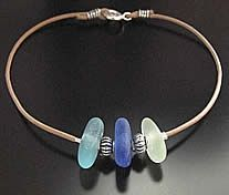Fine Greek Leather Bracelet with Sea Glass & Beads. After tumbling in the ocean for years, your glass was found along the seaside.