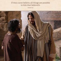 Wenn du kannst? Alles kann, wer glaubt. Wie ergeht es dir mit deinem Glauben?