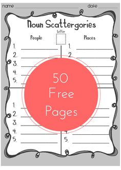 FREE Word Work Game, pages, 3 Skill Levels and ink friendly options. Categories Include: Actors Actresses Adjectives Animals Athletes Books Boy Names Cities Classroom Objects Countries Famous People. Grammar Activities, Teaching Grammar, Teaching Language Arts, Classroom Language, Language Activities, Teaching Writing, Writing Activities, Speech And Language, Teaching Tools