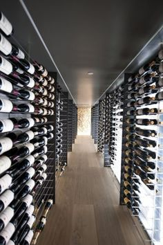 """The wine cellar of the """"Tex-tonic house 1"""" by Paul McAneary Architects Ltd in London, UK #winecellar #winelibrary #interiordesign - More wonders at www.francescocatalano.it"""