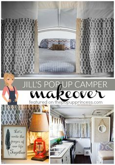 I am absolutely in love with this gorgeous high wall pop up camper makeover. Jill did an amazing job remodeling it--definitely a must see!