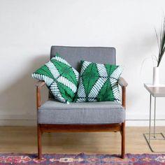 Chair with wax print cushions marieclaire.fr