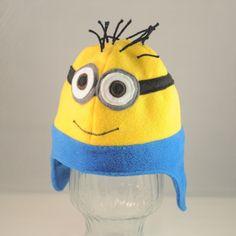 Double Eye Yellow Guy Character Fleece Hat door TheCraftEGalShop