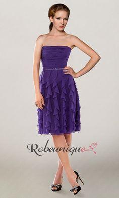 Bustier Robes de Cocktail Courtes Vagues Violettes RU097 #cocktail #courtes #prom #dresses #purple #robeunique