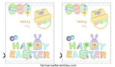 Free Printable Easter Treat Bag Topper that are perfect for classroom parties or a co-worker at the office.  ~ Farmer's Wife Rambles