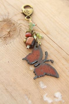 Butterfly Key Chain Butterfly Purse Charm Key by TheRusticSouls