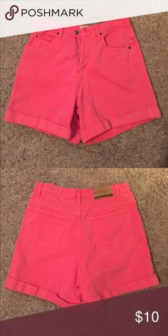 High waisted denim shorts Pink shorts, high waisted, good condition. These are fairly long, about a 5 inch inseam. Brand is Westport, purchased from a vintage store. Urban Outfitters Shorts Jean Shorts