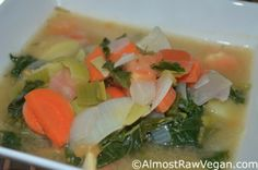 Hearty Vegetable Soup – Almost Raw Vegan