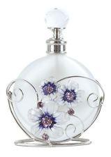 Purple Butterfly & Crystal Flower Perfume Bottle New