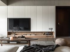 Structuring Life-Near Work-Near Design Interior Design Ikea Living Room, Living Room Tv, Living Room Modern, Living Room Interior, Living Area, Tv Cabinet Design, Modern Tv Cabinet, Modern Interior Design, Family Room