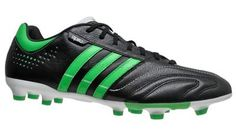 New Adidas 11Nova TRX FG Mens Leather Soccer Cleats - Black / Green