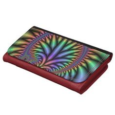 Colorful Rainbow Plant Abstract Wallets