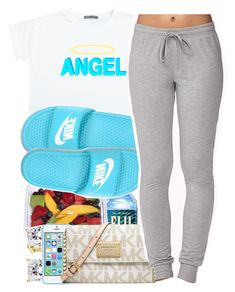 """"" by yeauxbriana on Polyvore featuring NIKE, Michael Kors and Forever 21"