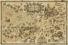 Title: Harry potter marauders map Dimension: Suggested Fabric: ~~14 ct. aida Stitches: Grid Size: 351W x 233H Design Area: 63,68 cm x 42,27 cm (351 x 233 stitches) Number of DMC colors: 25 Type of cross stitch required: FULL CROSS-STITCH You will get a PDF pattern you can print with: - A pattern picture in JPEG format - A Pdf pattern with black and white symbols - A Pdf pattern with symbols map over colors - A Pdf file containing the Floss Usage Summary - A Pdf file DMC colors map ** IMPO...