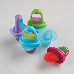 baby popsicle molds, perfect size.....freeze baby food, great for teething.