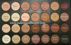 Coastal Scents 28 Neutral Pallete with names of MAC dupes