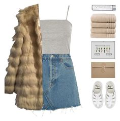 """girl gang glam"" by amazing-abby ❤ liked on Polyvore featuring Topshop, RE/DONE, ASOS, Dr. Martens and Christy"