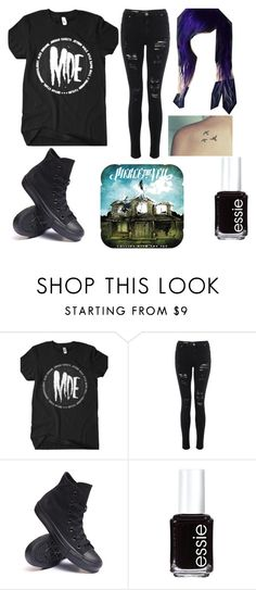 """""""I've been thinking//Should I be emo?"""" by diorwasnotthere ❤ liked on Polyvore featuring Converse and Essie"""