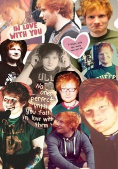 Ed Sheeran Collage. Makes a Perfect Background