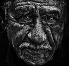Oude Man, Portret, Gezicht, Zwart Wit, Senior