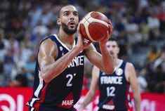 Rudy Gobert put up a double-double to lead France over Team USA, giving to break the U.'s streak in international play. Rudy Gobert, Gregg Popovich, Nba League, 2020 Olympics, Nba Wallpapers, Utah Jazz, World Star, Team Usa, Nba Players