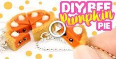 Let's make Pumpkin Pie BFF charms! Kawaii Crafts, Kawaii Diy, Cute Crafts, Diy Phone Case, Cute Phone Cases, Polymer Clay Kawaii, Diy Bebe, Stationery Craft, Miniature