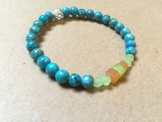 Blue Opal bracelet by NanabojoDesigns on Etsy