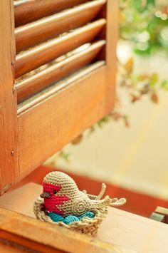 El blog de Dmc: Los pájaros de amigurumi de Mel