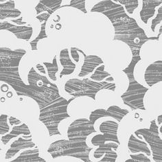 Cloud Bay wallpaper in Charcoal from Rapture & Wright