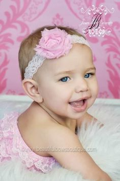 Add a vintage floral touch to complete her look with this large pink flower lace headband from Beautiful Bows Boutique. #Handmade to perfection, it features a stunning fraye... #handmade #etsy #bighairbows #overthetop #boutique #babygirl #1stbirthday #babyclothes #hairbows #baby-headbands #holiday-collection #valentines #vintage-hairband ➡️…