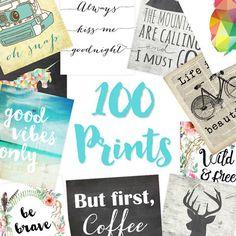 100 Printables MEGA PACK - Limited Time Offer!