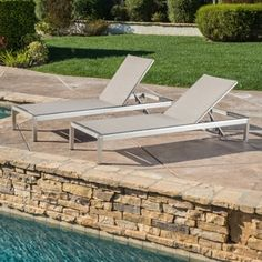 Shop for Cape Coral Outdoor Aluminum Adjustable Chaise Lounge (Set of 2) by Christopher Knight Home. Get free shipping at Overstock.com - Your Online Garden