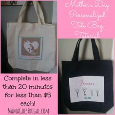 Mother's Day Personalized Tote Bag Tutorial