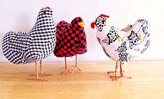 Lot-3-Handmade-Stuffed-Fabric-Chicken-Decoration-Dolls-not-a-toy