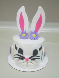 Easter bunny blowing kisses cake! Contact Heather @ 804-283-4641