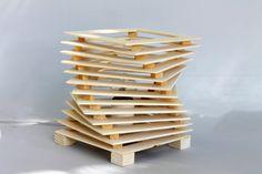 Lampe de table en bois mod. CORKSCREW par Ideesign sur Etsy