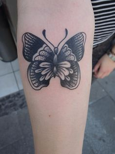 Traditional Butterfly done by Marcos Ortega.  Working in Berlin at Bläckfisk Tattoo co. In Kreuzberg  Marcosortegatattoo.tumblr.com Instagra...