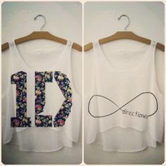 One Direction Crop Tops