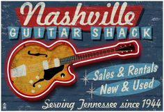 Nashville, Tennessee - Guitar Shack Posters at AllPosters.com