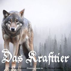 Das Krafttier - the spirit animal - coming soon to The Wicked Griffin  Official launch date to be announced. - thewickedgriffin.com