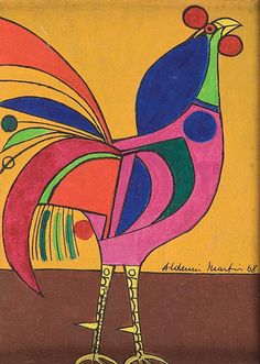 Aldemir Martins  . 1968 inf. dir. 22 x 16 cm.