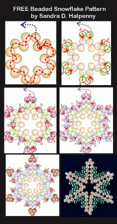 Free Snowflake Patterns Featured in Bead-Patterns.com Newsletter!