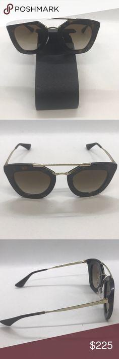 3900285a35243 Prada 09QS Cinema Sunglasses UAO1L0 Brown Authentic Women s Prada  sunglasses Prada model 09QS Brown with case