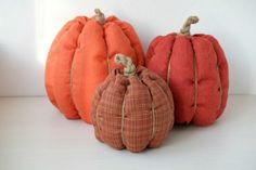 How to Make a Stuffed Fabric Pumpkin Out of Scraps – 19 Ideas Fall Crafts For Adults, Easy Fall Crafts, Fun Diy Crafts, Easy Diy Projects, Crafts For Kids, Fall Projects, Sewing Projects, Craft Projects, Craft Ideas