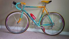 biciak: 1998 Tour de France Bianchi Pantani Mercatone Uno Team Replica build