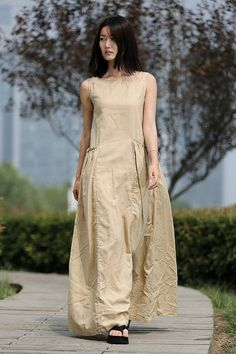 Linen maxi dress by YL1dress on Etsy