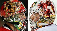 bkackhawks goalie masks | ... - Chicago Blackhawks (2010) - Scary Goalie Masks - Photos - SI.com