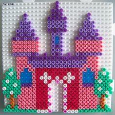Fairy castle hama perler beads by Les Loisirs de Pat