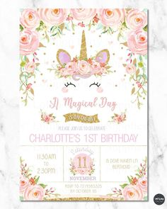 boho first birthday invitation floral 1st birthday invitations