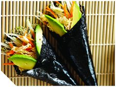 Delicious, healthy and quick raw food recipes by renowned chef and author Matthew Kenney. Raw Wraps, Vegan Wraps, Raw Vegan, Vegan Vegetarian, Paleo Sushi, Raw Food Recipes, Healthy Recipes, Raw Living, Food Plating